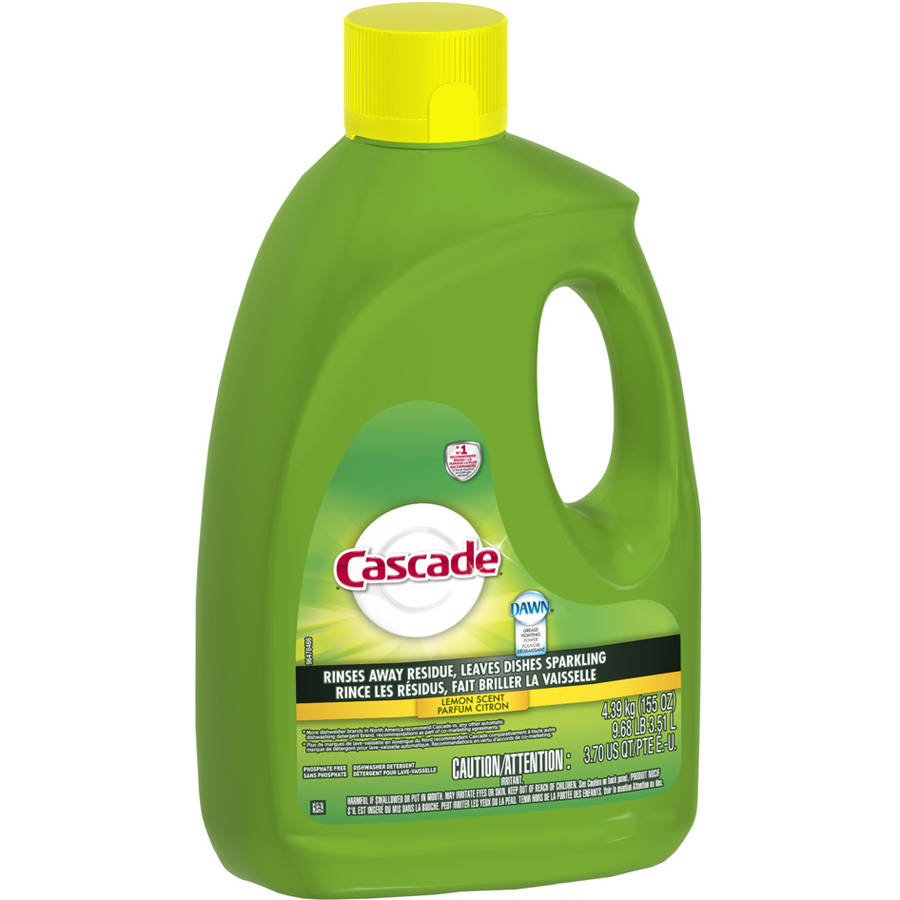 Cascade Dishwasher Detergent Lemon Scent (choose your size)