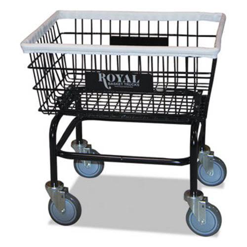 Royal Basket Trucks Wire Laundry Cart, 200 lb. Capacity, Black (RBTR27BKXWA5UN)