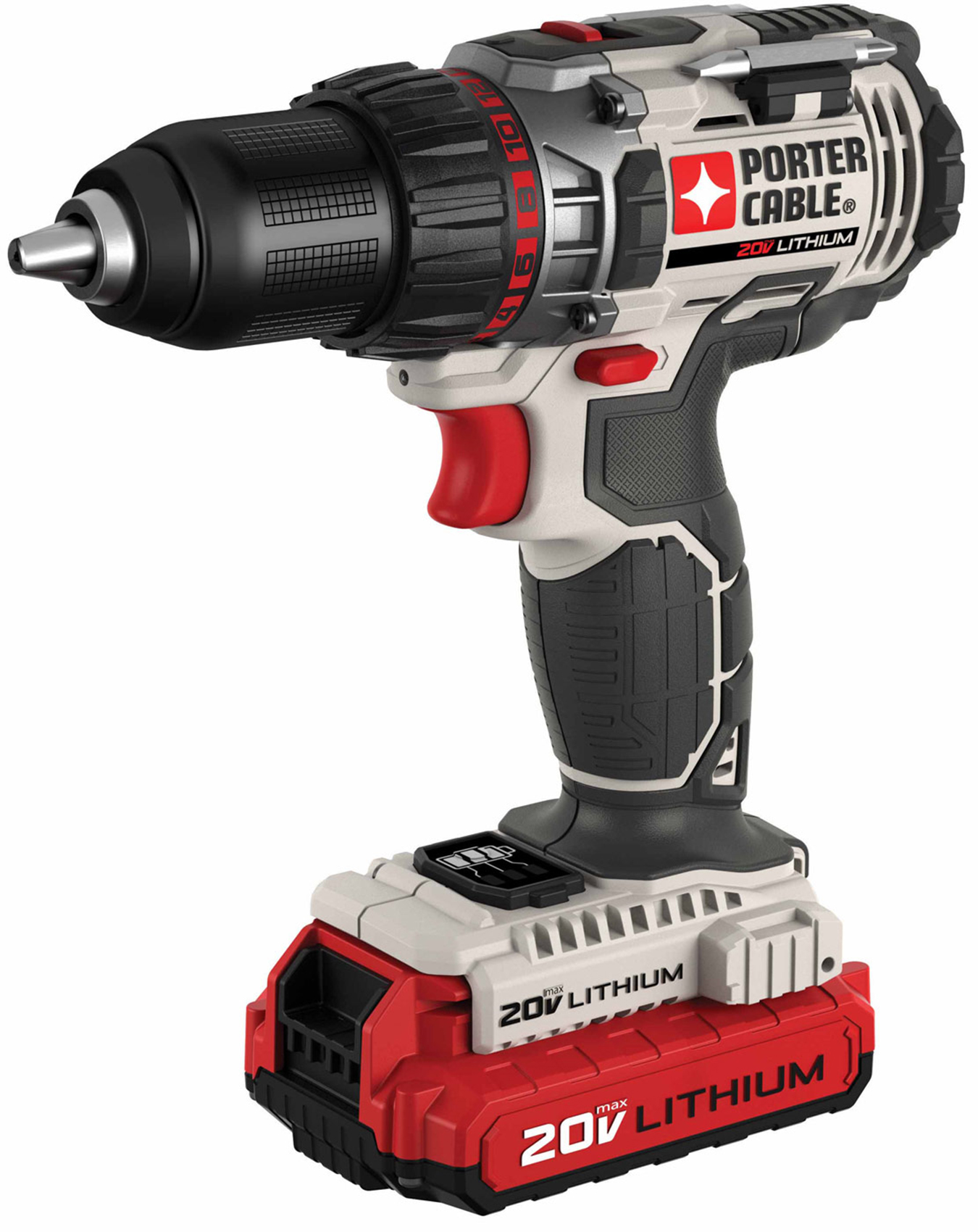 """Porter Cable PCCK600LB 20V Max 1 2"""" Lithium Ion Cordless Drill Driver Kit, with 2... by Black & Decker"""