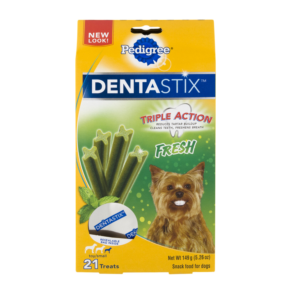 Pedigree Dentastix Fresh Triple Action Dog Treats for Small Toy Breeds 5.26 oz, 21 Treats by Mars Petcare Us