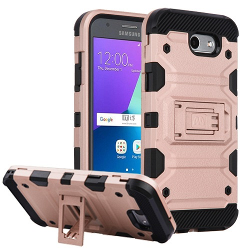 MUNDAZE Rose Gold Defense Double Layered Case For Samsung Galaxy J3 Prime / J3 Luna Pro / Sol 2