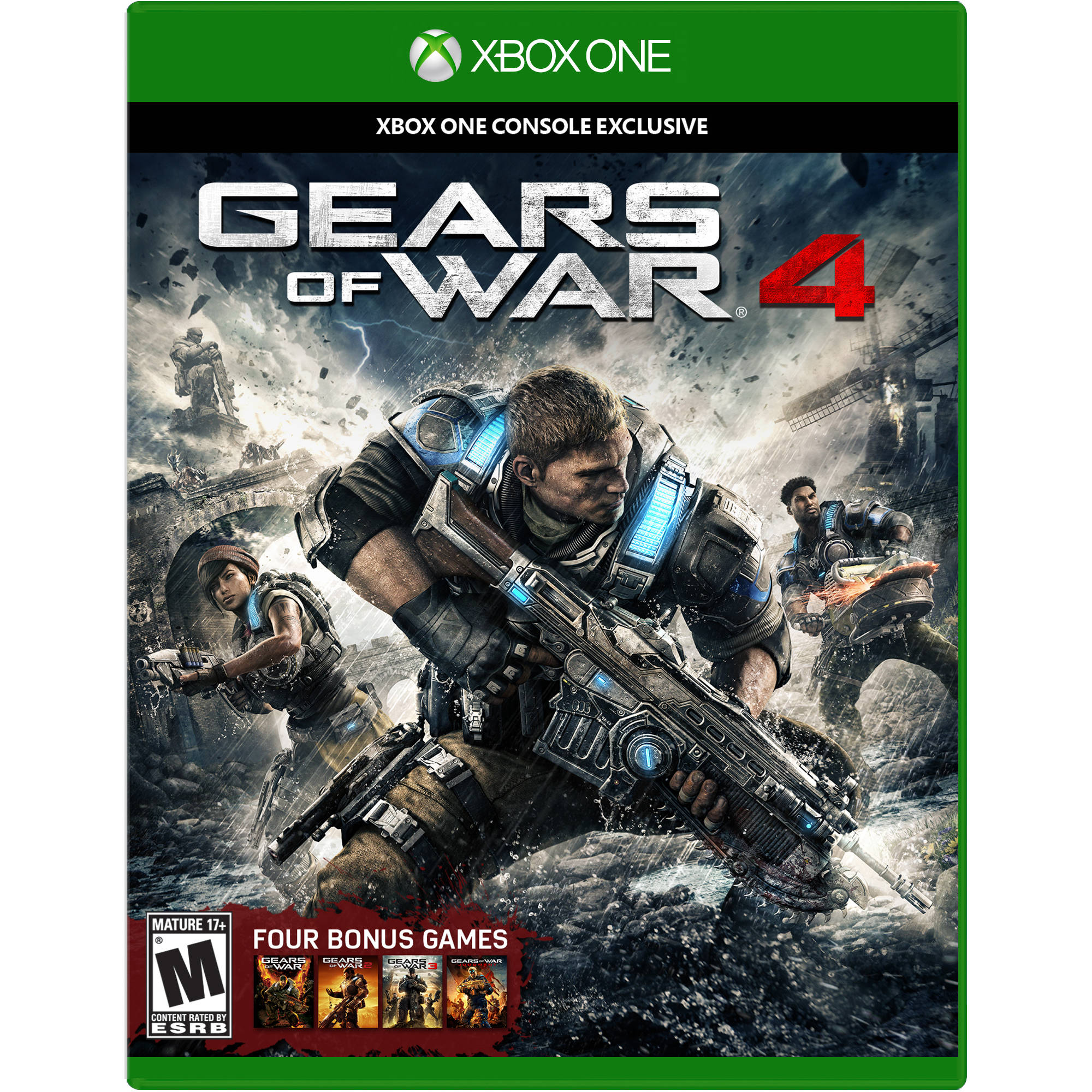 Gears of War 4 Xbox One English US Wal-Mart Blu-ray IPQ