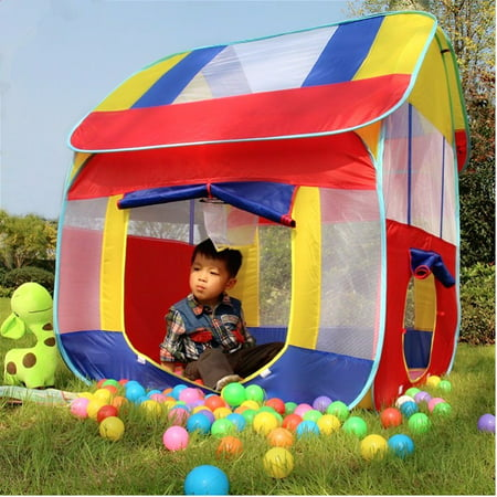 51'' Foldable Kids Children Play Tent Indoor Outdoor Camping Cubby Playhouse Game Toy (Camping Play Tent)