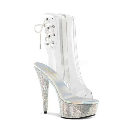 Women's Pleaser Bejeweled 1018DM-6 Ankle Boot
