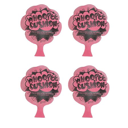 PACK OF 4 WHOOPEE CUSHIONS GAG GIFT ITEM PARTY FAVORS BY TM, 4 INDIVIDUALLY WRAPPED WHOOPEE CUSHIONS By DISCOUNT PARTY AND - Discount Party