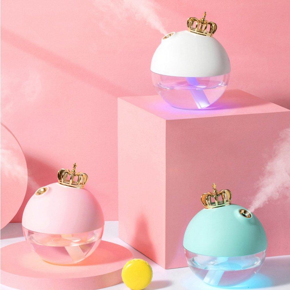 mini size cute usb crown humidifier office desk humidifier