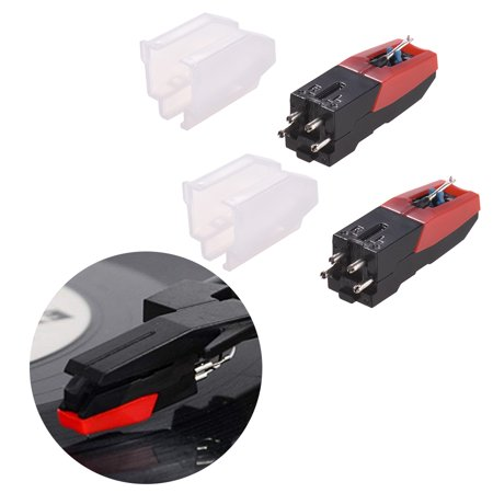 Universal Phonograph Record Player Turntable Cartridge Repacement Stylus Needle, Pack of 2 P-mount Turntable Cartridge