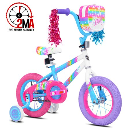 """LittleMissMatched 12"""" Let You Be You Girl's Bike, Pink/Blue, For Height Sizes 2'0"""" and Up"""
