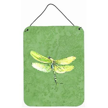 Carolines Treasures 8864DS1216 12 x 16 in. Dragonfly On Avacado Aluminum Metal Wall & Door Hanging Prints - image 1 de 1