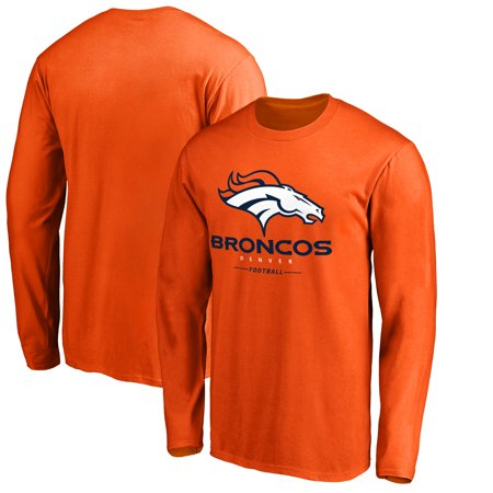 - Denver Broncos NFL Pro Line by Fanatics Branded Team Lockup Long Sleeve T-Shirt - Orange