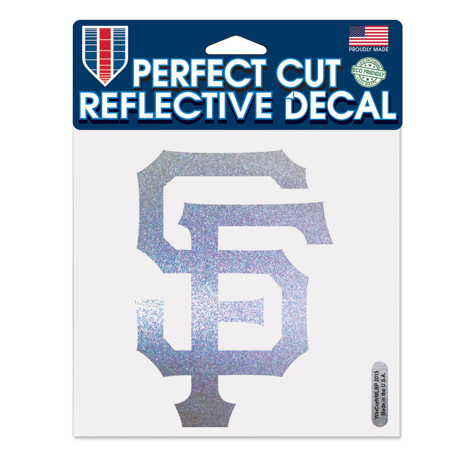 """San Francisco Giants WinCraft 6"""" x 6"""" Reflective Perfect Cut Decal - No Size"""