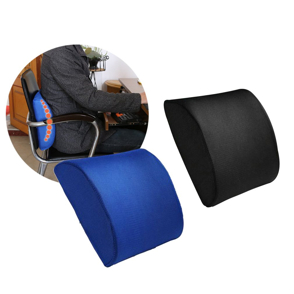 Memory Foam Waist Pillow Slow Rebound Lumbar Pillow Cushion Office Car Waist Cushion Relieve Fatigue Pressure
