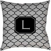 Thumbprintz Moroccan Monogram Grey Decorative Pillows