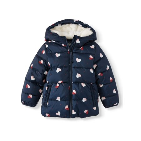 Wonder Nation Baby Toddler Girl Bubble Jacket