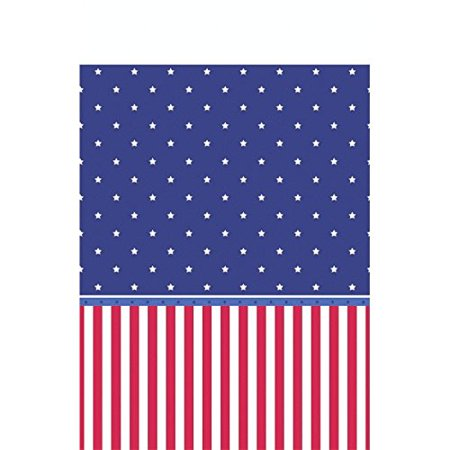 AMSCAN AMERICAN CLASSIC PATRIOTIC 4TH OF JULY PARTY PICNIC TABLE COVER (1 PIE... - Party Of America