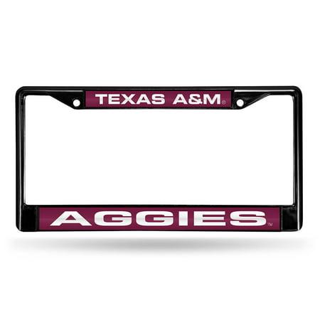 Texas A&M Aggies NCAA Black Chrome Laser Cut License Plate (Cincinnati Bengals Laser License Plate)