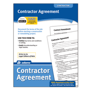 Adams Contractor Agreement Form, 8.5 x 11 Inch, White (LF155)