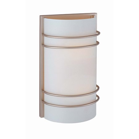 Lite Source Stokes Sconce  White Stainless Steel