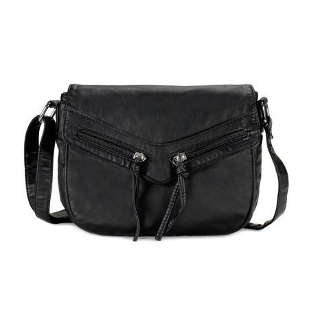Scarleton Trendy Duo Zip Flap Crossbody Bag