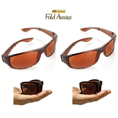 Fold Aways Sunglasses Deluxe- 2 Pack (Sunglasses Folding)