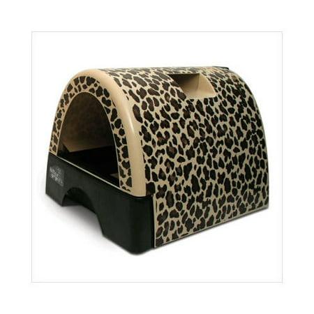 Kittyagogo Designer Cat Litter Box With Leopard Print