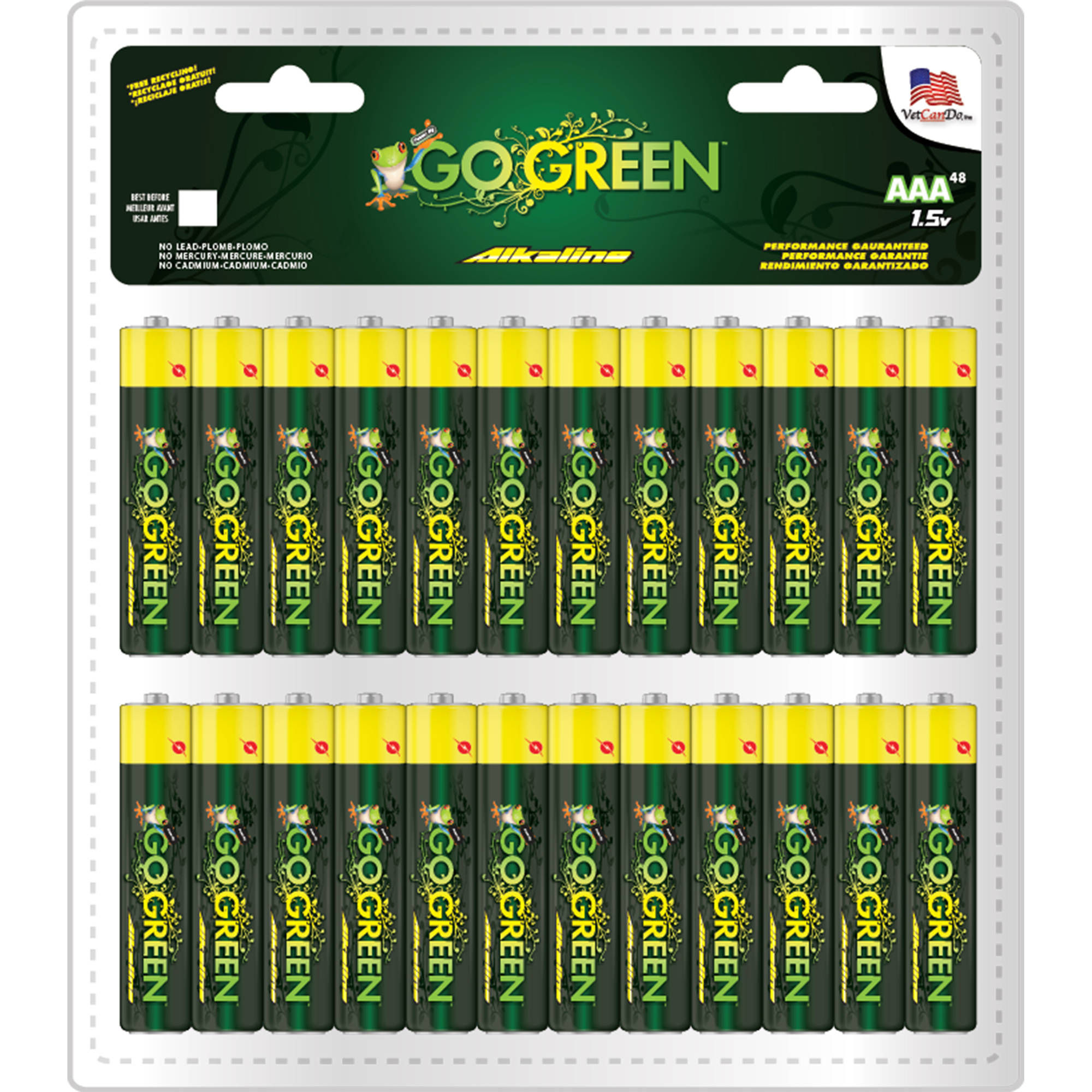GoGreen Power Alkaline C Batteries, 2-Pack