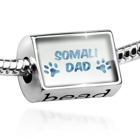 Bead Dog & Cat Dad Somali Charm Fits All European Bracelets
