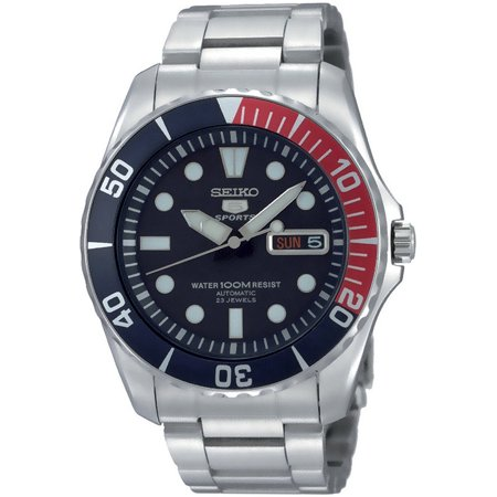 Sports Automatic Self Winding Watch - SEIKO SNZF15K1,Men's Automatic Sports,Self Winding,Stainless Steel Case and bracelet,Screw Back,100m WR,SNZF15