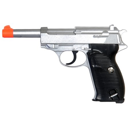 HEAVY METAL WALTER P38 SPRING POWERED AIRSOFT PISTOL - SILVER