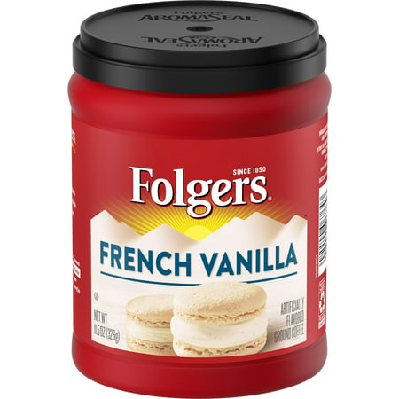 Folgers French Vanilla Artificially Flavored Ground Coffee, 11.5-Ounce (G Fuel Flavors)