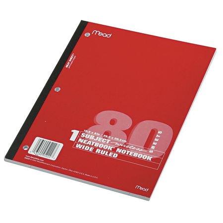 MEAD Notebook,10-1/2 x 8 In. MEA05222 (96672 Wireless Notebook)