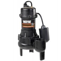 WAYNE RPP50 1/2 HP Cast Iron Sewage Pump with Piggy Back Tether Float Switch