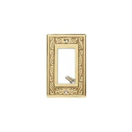 Creative Accents Wood Wall Plate - Creative Accents 1417PB Victorian Solid Brass One Gang Decorator Wallplate