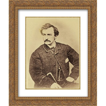 Matt Booth - Wilkes Booth 20x24 Double Matted Gold Ornate Framed Art Print
