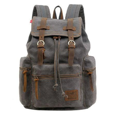 0a8bbd49c1e0 Men Travel Canvas Backpack Sport Rucksack Camping School Satchel Hiking Bag  - Walmart.com