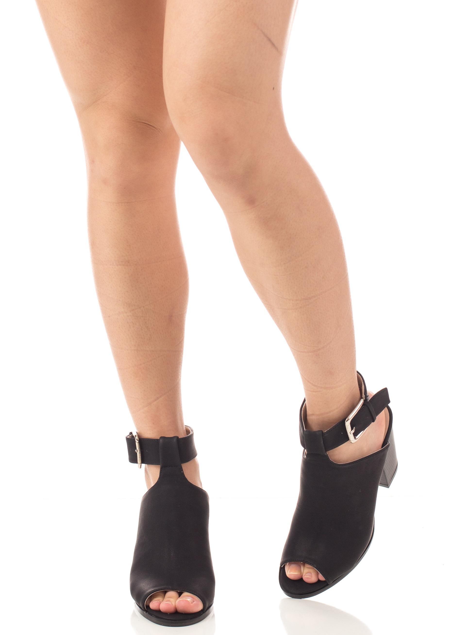 Soho Shoes Women's Open toe Chunky Heel Ankle Booties