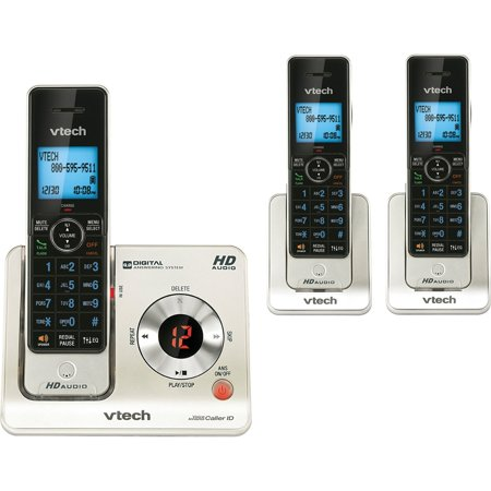 VTech LS6425-3 Expandable Cordless Phone with Answering Machine & Caller ID/Call Waiting, 3 Handsets