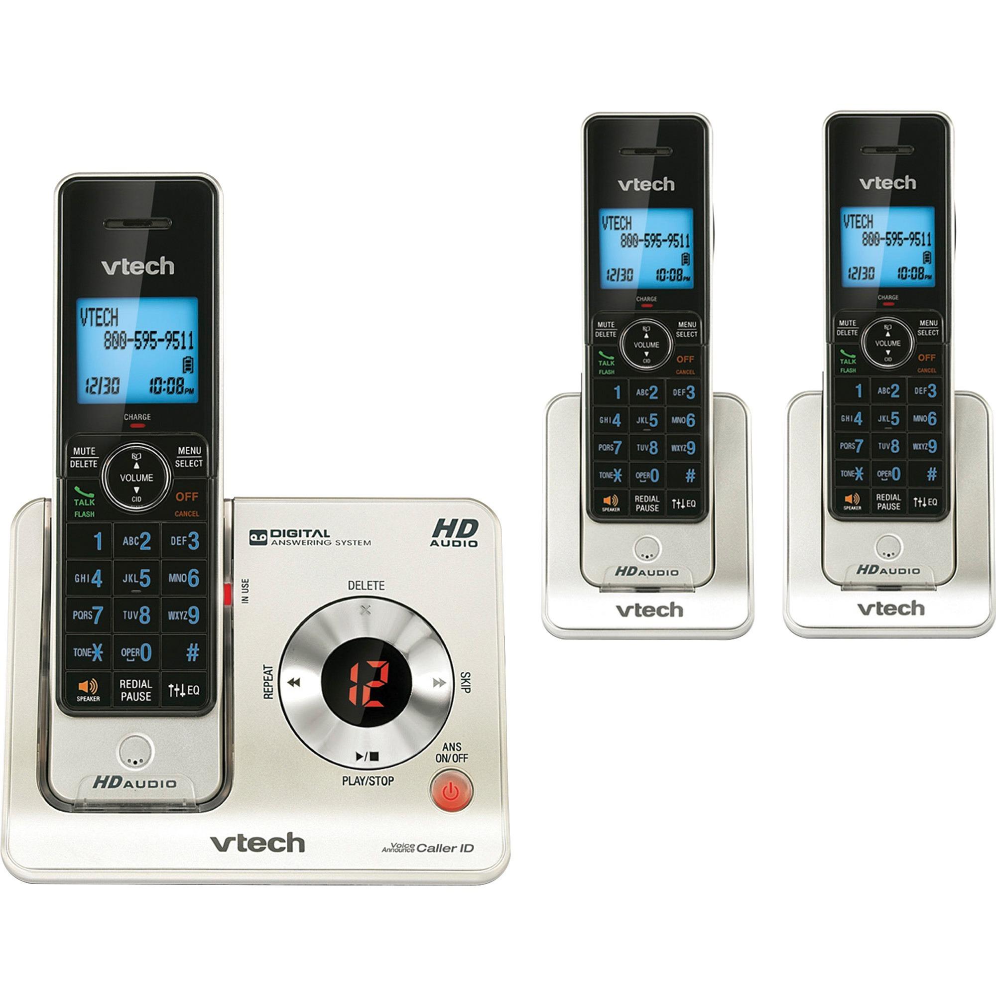 VTech, VTELS64253, Vtech LS64253 Expandable Cordless Telephone, 1, Black