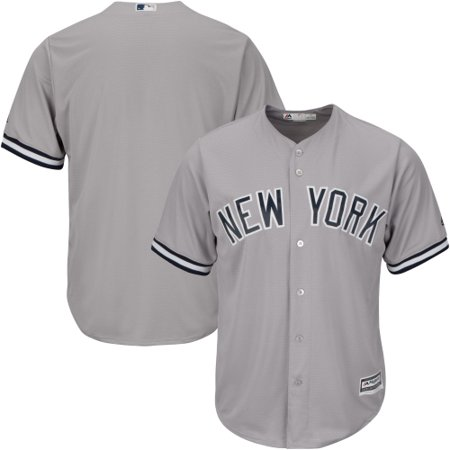 Big And Tall Embroidered Jersey (New York Yankees Majestic Big & Tall Cool Base Team Jersey - Gray)