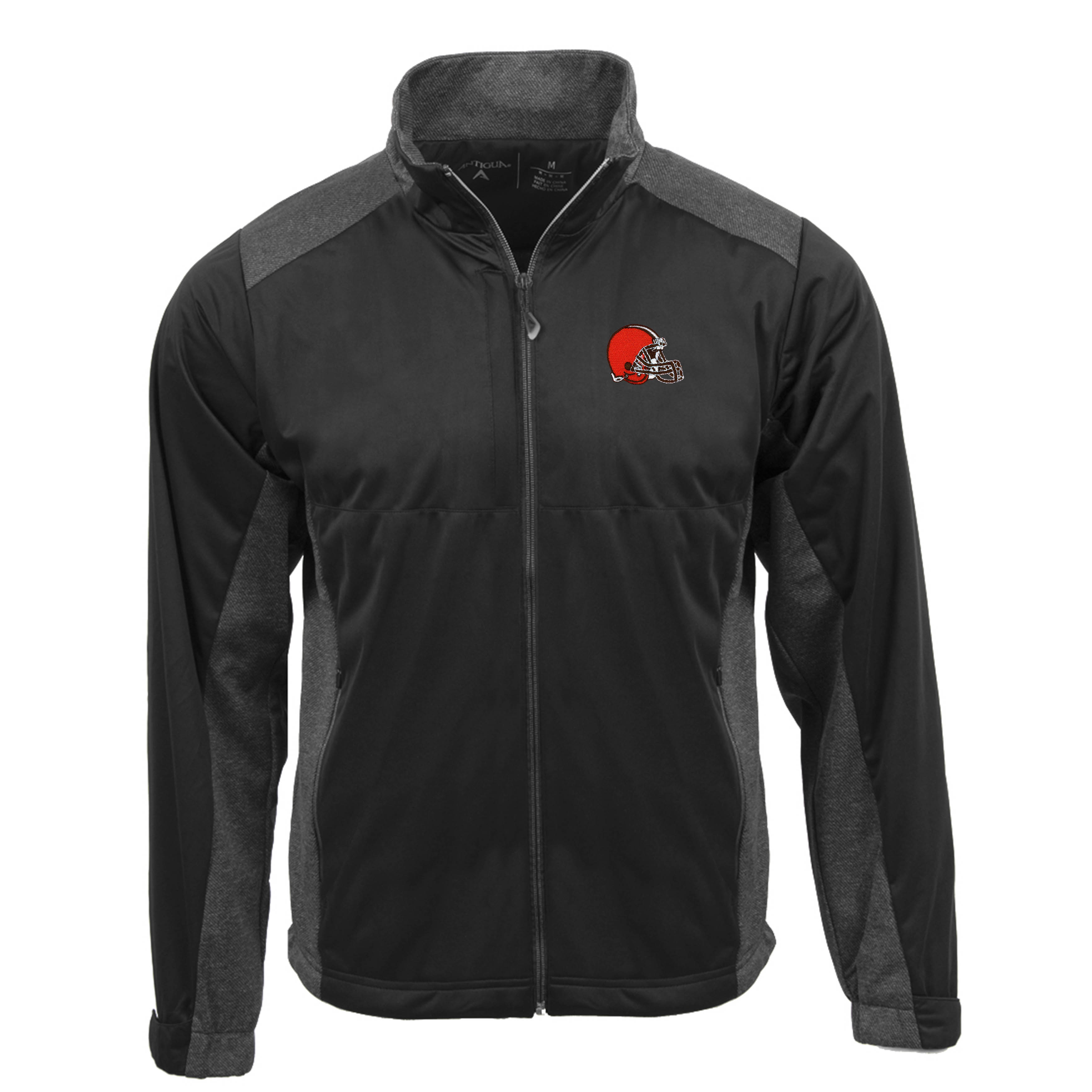 Cleveland Browns Antigua Revolve Full-Zip Jacket - Charcoal