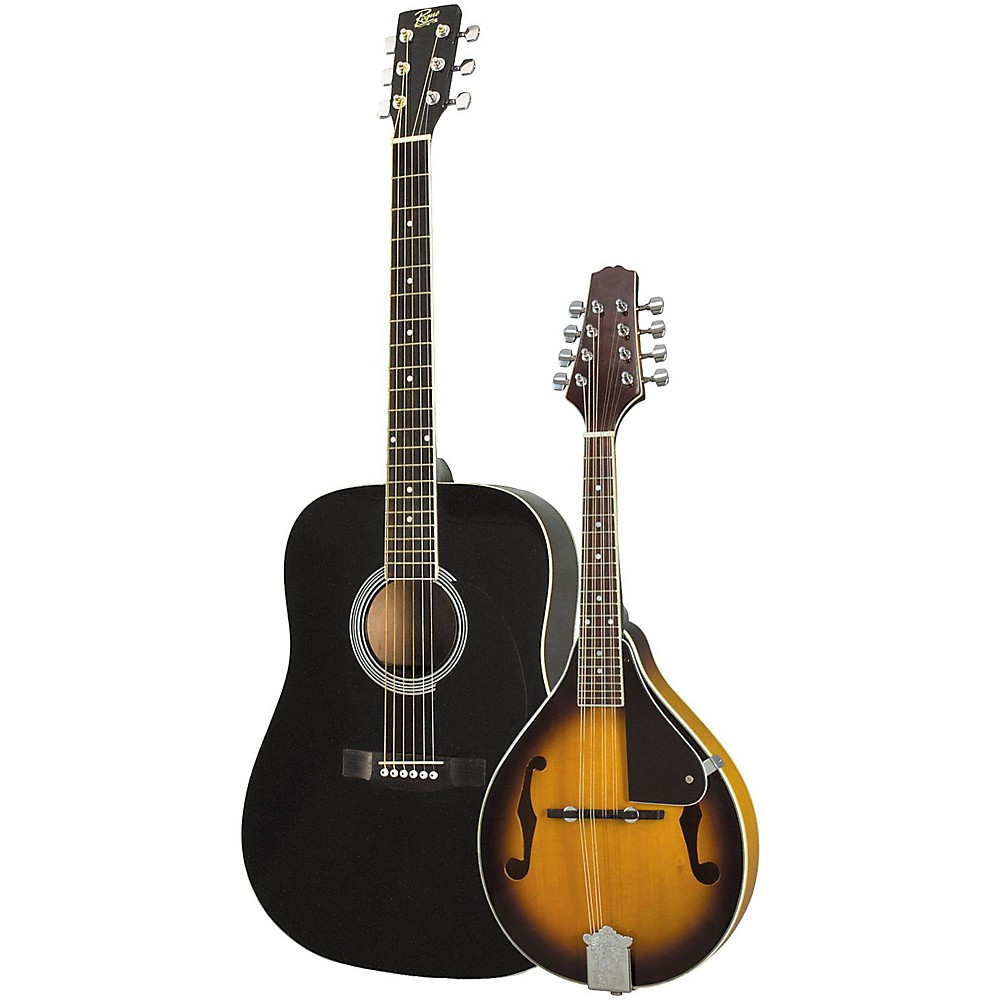 Rogue Acoustic Guitar and Mandolin Pack Black Sunburst by Rogue