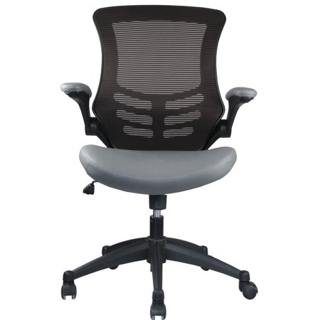 Manhattan Comfort Intrepid High Back Office Chair In Coffee And Grey