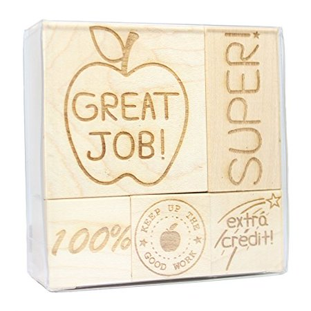 Teacher Engraved Wood Rubber Stamp Set - 1 (Teacher Rubber)