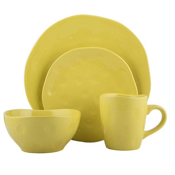 Melange Stoneware 16 Piece Dinnerware