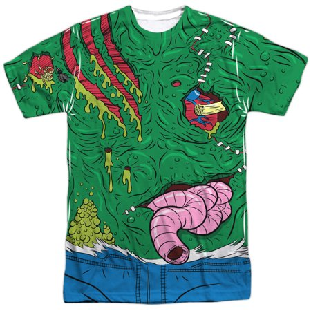 halloween spooky costume cut up slimy green monster adult 2-sided print t-shirt - Slimy Foods For Halloween