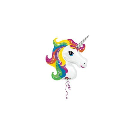 Single Source Party Supplies Rainbow Unicorn Shape Mylar/Foil Balloon - Party Source Newport