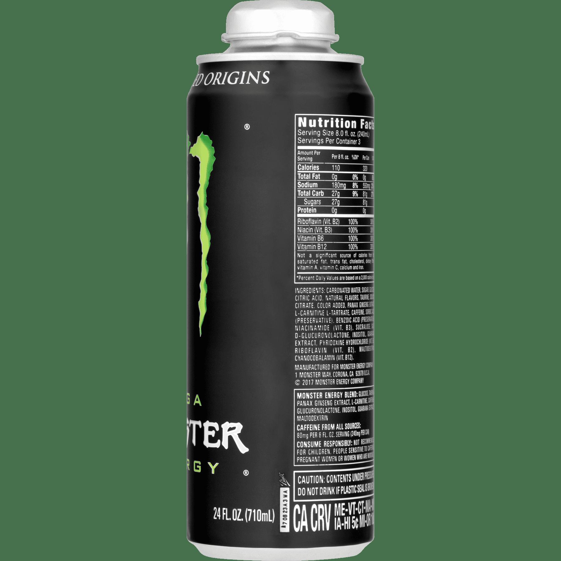 monster energy drink, 24 fl oz - walmart