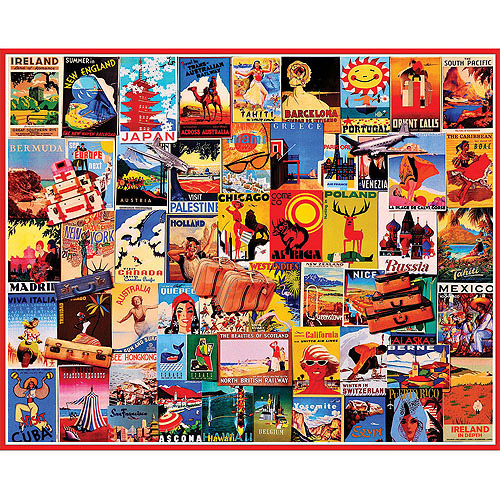 White Mountain Puzzles Travel Dreams ( Travel Posters) Puzzle, 1000 Pieces