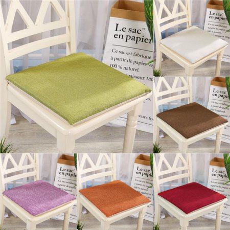 Bestller 15.7x15.7 inch Non-Slip Multi-Colors Chair Seat Cushion Pads Square Cotton Sit Tatami Mats Indoor Outdoor Sofa Floor Home Kitchen Office Decor Black Friday Clearance ()