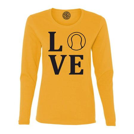 - Love Tennis Sports Jersey Womens Long Sleeve T Shirt